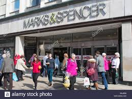 bureau de change york marks and spencer store entrance city of york uk stock