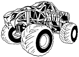 Monster Truck #1 (Transportation) – Printable Coloring Pages
