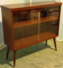 Mid Century Modern Glass Door Display Cabinet