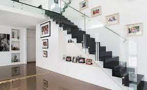 Glass Balustrade Stairs Melbourne, Frameless Glass Balustrade ... Stairs Amusing Stair Banisters Baniersglsstaircase Create Unique Metal Handrailings With Pinnacle Staircase And Hall Contemporary Artwork Glass Banister In Best 25 Glass Balustrade Ideas On Pinterest Handrail Wwwstockwellltdcouk American White Oak 3 Part Dogleg Flight Frameless Stair Railing Elegant Safety Architecture Inspiring Handrails For Beautiful Amusing Stright Banister With Base Frames As Decor Tips Cool Banisters Ideas And Newel Detail In Brown
