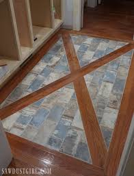 how to install a wood floor with tile inlay fixer uppers