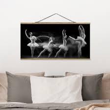 stoffbild mit posterleisten balerina wave querformat