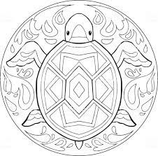 Vecteur De Mandala Coloriage Tortue Cliparts Vectoriels Et Plus D