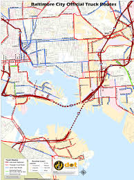 100 Truck Route Map City Of Baltimore ADVISORY Automated Commercial Vehicle Camera