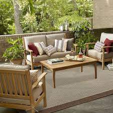 Ty Pennington Patio Furniture Parkside by Grand Resort Sunset Key 4 Pc Seating Set Natural Wood Shop Your