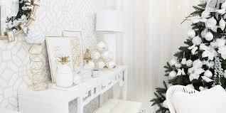 weihnachtsdeko in weiß gold instashop