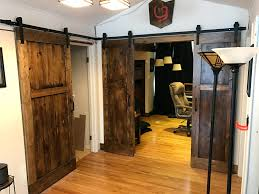 Make Sliding Barn Door Entertainment Center Pictures Doors ... Door Design Tips Tricks Great Sliding Barn For Classic Home How To Make Hdware Amazing Glass Doors Remodelaholic 35 Diy Rolling Ideas Your Own Wood Track Diy Masonite 42 In X 84 Zbar Knotty Alder Interior Architectural Accents For The Best 25 Door Hdware Ideas On Pinterest Brushed Steel Kit With Arrow Rails Lowes