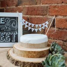 Tree Slice Rustic Wedding