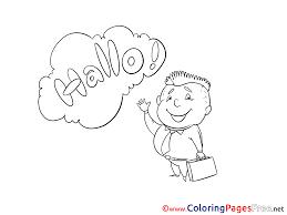 Hello Kid Coloring Sheets Download Free