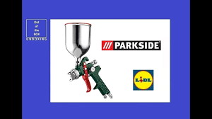 Parkside Pneumatic Paint Spray Gun PDFP 500 C3 UNBOXING Lidl max 3