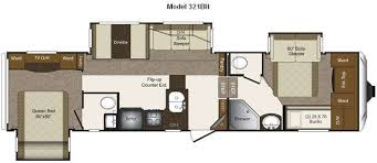 Fifth Wheel Bunkhouse Floor Plans by Two Bedroom Rv Best Home Design Ideas Stylesyllabus Us
