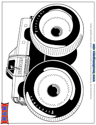 Huge Tires Monster Truck Bigfoot Coloring Page