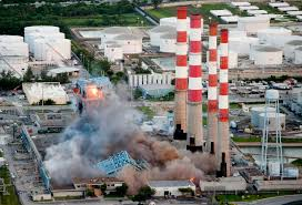 VIDEO Explosive demolition brings down south Florida power plant