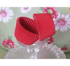 Size 75 Cherry Red Cupcake Liners Professional