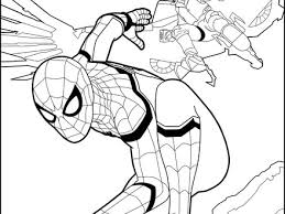 Spider Man Homecoming 1 Coloring Pages Hellokidscom