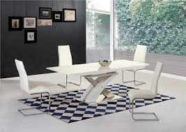 100 White Gloss Extending Dining Table And Chairs H Glass Dining Table 8 Chairs