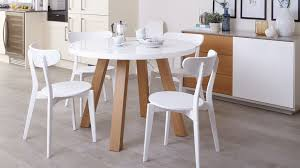 Modern 4 Seater White Gloss And Oak Dining Table Uk In The Stylish Also Lovely Kitchen For Home