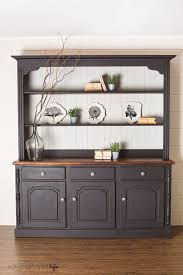 What Is A Hoosier Cabinet Worth by Pine Hutch Dark Paint Distressed Edges Home Furniture