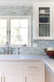 Beach Kitchens Love Taking The Backsplash Tile All Way Up To CeilingThis Is A Great Glass Collection By Stone And Pewter Accents Called