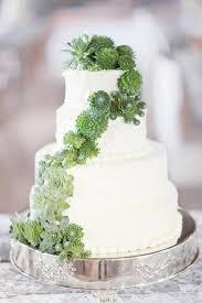 Summery Succulent Wedding Cake