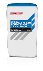 rapid set floor wall tile adhesive sealocrete pla limited