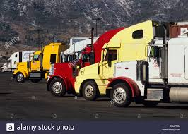 USA Nevada Trucks Truck Parking Lot Truck Stop North America United ...