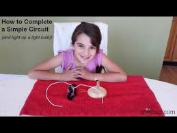 how to complete a simple circuit and light up a light bulb