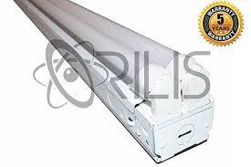8 ft led industrial retail flush mount 4 light t8 fixture w 4x