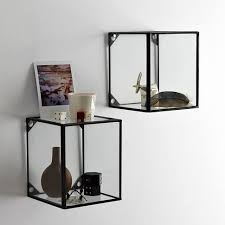Wall Mount Glass Display Boxes For Tiny Treasures To Precious Store Away Westelmcom The Home Shelves And