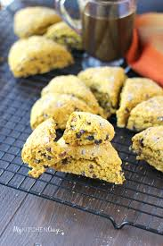 Pumpkin Scone Starbucks 2015 by Pumpkin Oatmeal Chocolate Chip Scones My Kitchen Craze