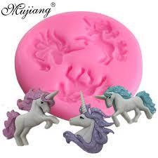 US 157 25 OFFMujiang Unicorn Silicone Mold Baby Birthday Fondant Cake Decorating Tools Unicornio Candy Chocolate Gumpaste Polymer Clay Mouldsin