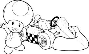 Coloriage Toad Mario Kart à Imprimer Sur COLORIAGES Info