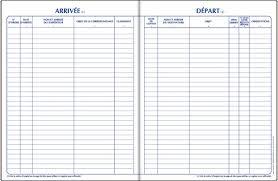 bureau registre des entreprises registres d enregistrement du courrier arrivée et départ registres