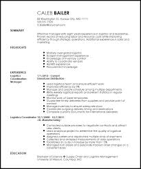 Free Traditional Logistics Coordinator Resume Template Resumenow Rh Now Com Examples For Sample
