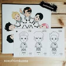 EXO Colouring Book Postcard