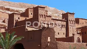 100 Ait Trucking Video Static Close Up Of Berber Buildings Benhaddou Morocco