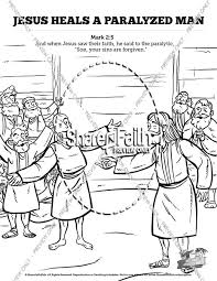 Luke 5 Jesus Heals The Paralytic Sunday School Coloring Pages
