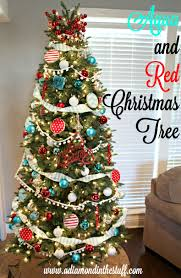Prelit Christmas Tree That Lifts Itself by Aqua And Red Christmas Tree A Diamond In The Stuff Bloglovin U0027