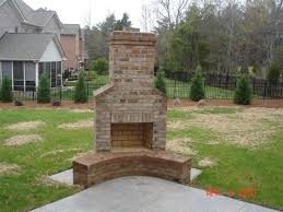Outdoor Fireplaces Ideas Building Fireplace Brick Surprising How