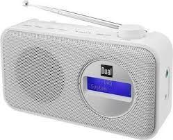 dual tragbares radio dab84 dab fm pll farbe weiß