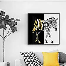 yhzsml schwarz und gold zebra leinwand malerei mode poster