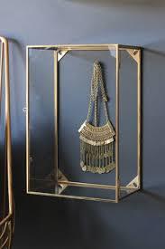 Wall Mounted Brass Glass Display Box