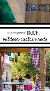 Outdoor Patio Curtains Canada by Best 25 Outdoor Curtain Rods Ideas On Pinterest Outdoor