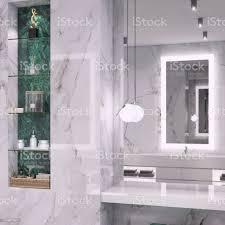 luxuriöses badezimmer mit glastür stockfoto und mehr bilder architektur
