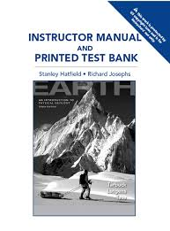 Instructors Manual Test Bank For Earth An Introduction To Physical Geology 10th Edition