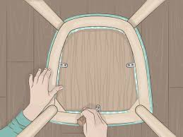How To Reupholster A Dining Chair Seat (with Pictures) - WikiHow Delightful Reupholster Ding Chair Seat And Back Of 6 Ding Table Chairs How To A With Pictures Wikihow Six Art Deco Chairs French Moustache Use Recover Image Of Casual Reupholstering Room Fabric Pazzodalcarlocom Room 4 Steps We Recover Fully Upholstered In New Fabric Faux Leather The 100 Images How American Midcentury Designed By John Keal Fascating Much To Sofa Do It Yourself