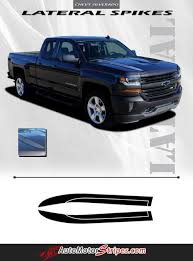2016-2018 Chevy Silverado 1500 Lateral Spikes Double Hood Spear Hood ...