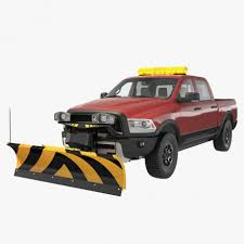 100 Truck With Snow Plow Pickup With Rigged 3d Model CGStudio