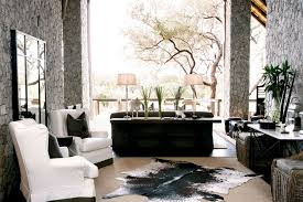 interior nature inspired trend african living room in open space