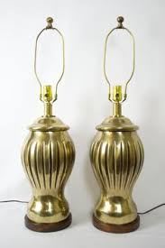 Frederick Cooper Table Lamps Brass by Pair Of Marble Lamps Designed By T H Robsjohn Gibbings For Hansen